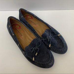 Comfortiva Pillow Top Suede Leather Moccasins